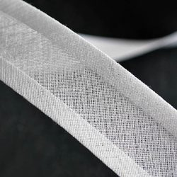 Cotton Bias Binding in White by William Gee