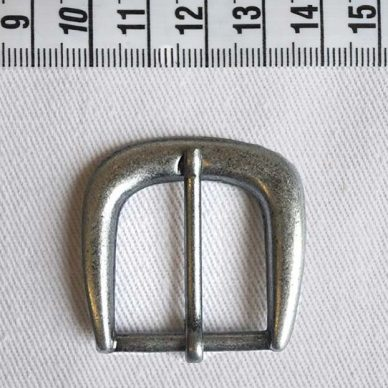 Antique Buckle - Silver - 25mm