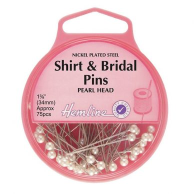 Hemline Shrit and Bridal Pearl Headed Pins