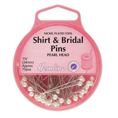 Hemline Shrit and Bridal Pearl Headed Pins