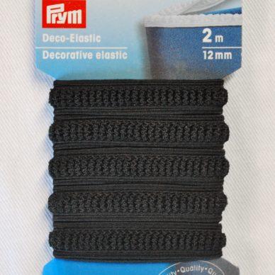 Prym Decorative Elastic 12mm - Black