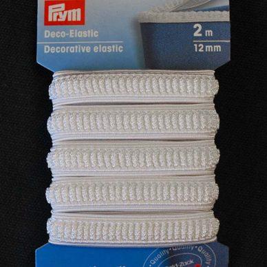 Prym Decorative Elastic 12mm - White