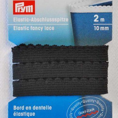 Prym Elastic Fancy Lace 10mm - Black