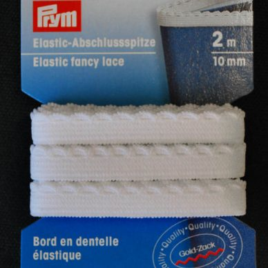 Prym Elastic Fancy Lace 10mm - White