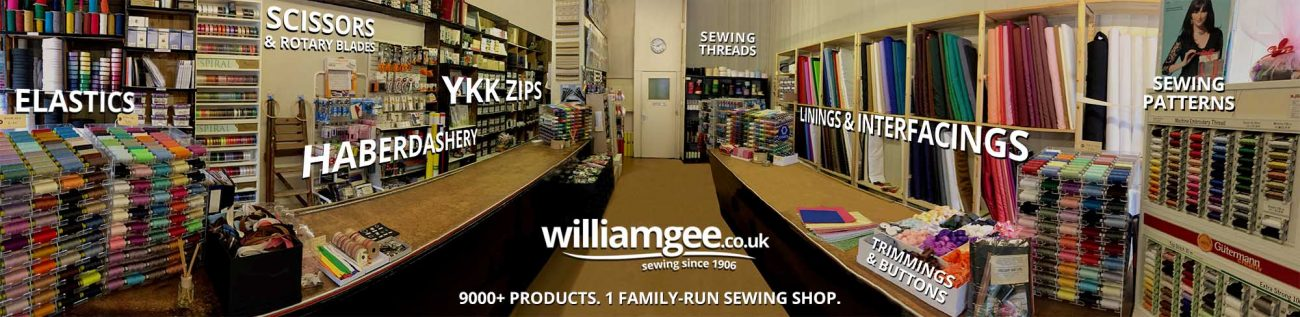 9000+ products. 1 sewing shop. williamgee.co.uk.