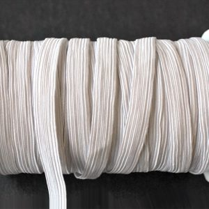 Flat Elastic 11mm in White by William Gee
