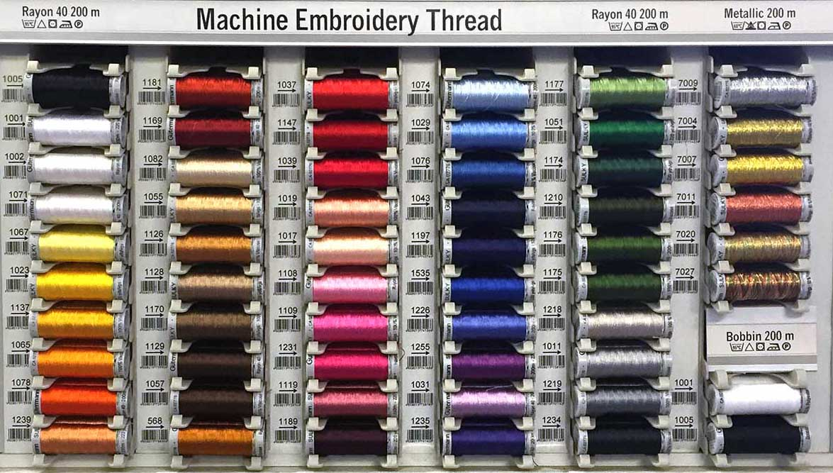 Gutermann Sulky Embroidery Thread Shade Card