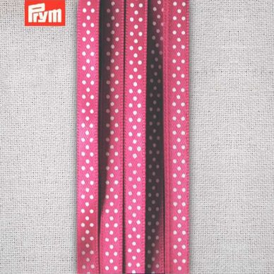 Prym Polka Dotted Satin Ribbon 6mm - Pink