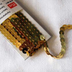 Prym Sequin Trimming - 6mm in Gold