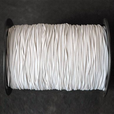 Round Elastic in White - 1.5mm