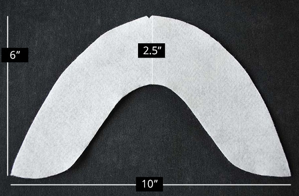 U-Shaped Sleeve Head Roll Dimensions