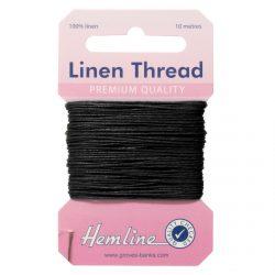 Hemline Linen Thread - Black - William Gee UK