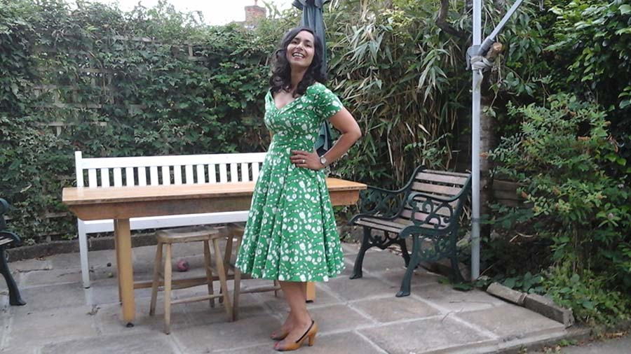 me in my vintage summer dress