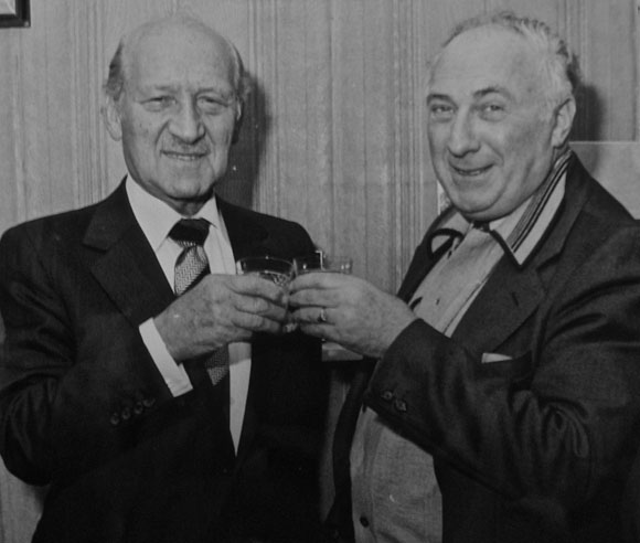 Sidney Gee & David Graham celebrate the seventy-fifth anniversary in 1981