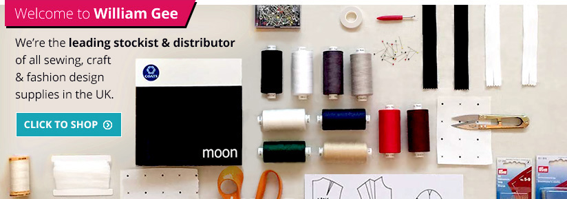 William Gee is the leading supplier of sewing, craft and fashion design supplies in the UK