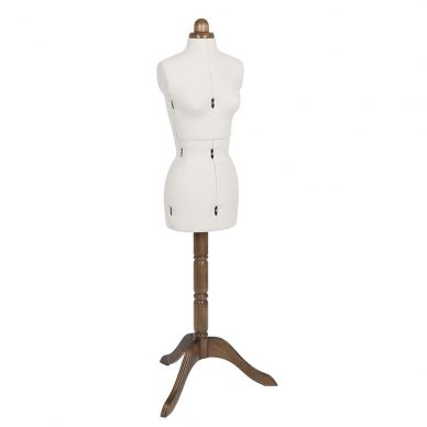 Lady Valet Dress Form - Small - Ecru