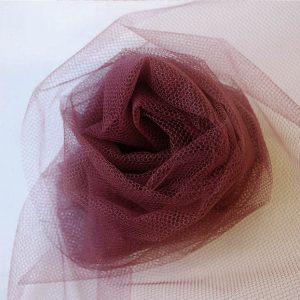 Nylon Dress Net - Burgundy