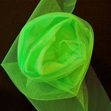 Nylon Dress Net - Fluorescent Green