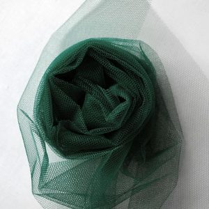 Nylon Dress Net in Bottle Green - William Gee