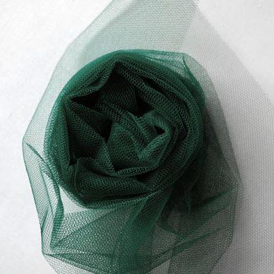 Nylon Dress Net in Bottle Green - William Gee