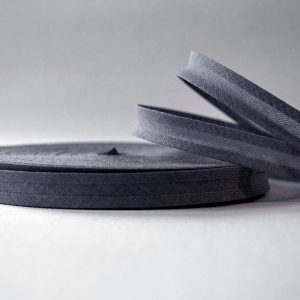 Bias Binding Cotton in Graphite Colour - William Gee