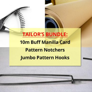 Buy a Tailors Bundle Online 10m Manilla Card Pattern Hooks Pattern Notchers Online - William Gee