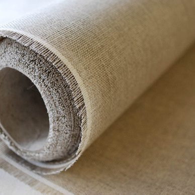 10K Linen Canvas roll in Natural - William Gee
