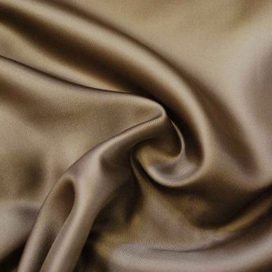 Viscose Twill Lining in colour Camel - William Gee UK