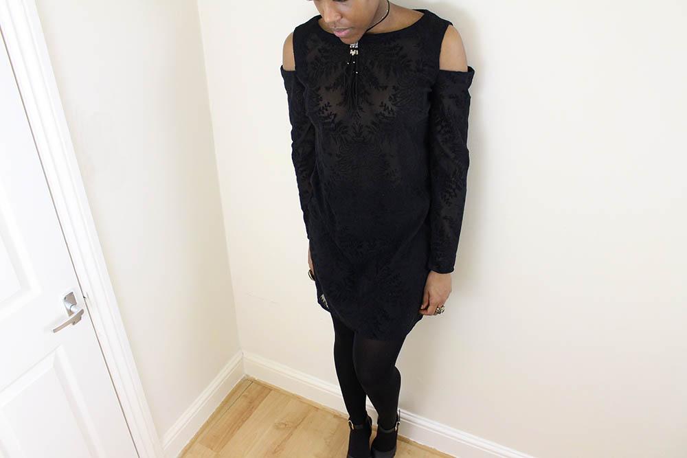 Cold Shoulder Dress 9
