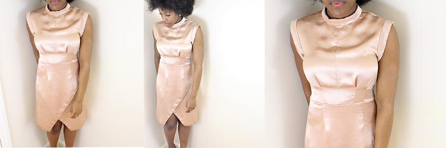 How to make your own High Neck Self Drafted Dress at William Gee