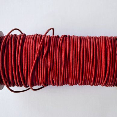 Round Elastic 2mm in Red Colour - William Gee