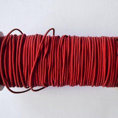 Round Elastic 2mm in Red Colour - William Gee