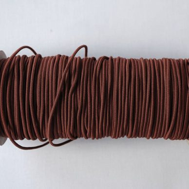 Round Elastic 2mm in Wine Colour - William Gee