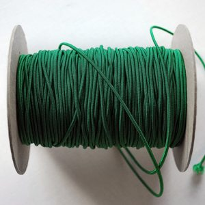 Round Elastic 3mm in Bottle Green colour - William Gee