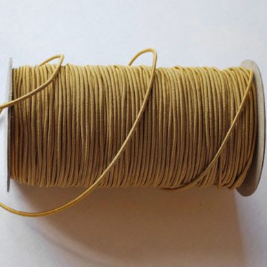 Round Elastic 3mm in Gold colour - William Gee