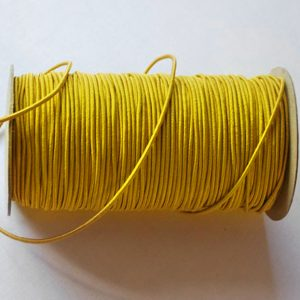 Round Elastic 3mm in Yellow colour - William Gee