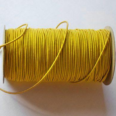 Round Elastic 3mm in Yellow colour - William Gee