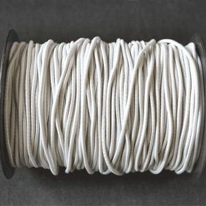 Round Elastic in White 2mm - William Gee