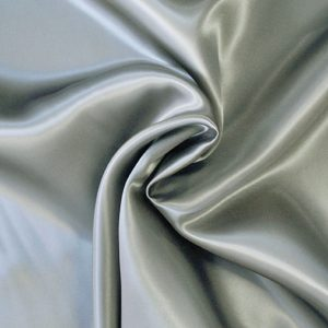 Viscose Satin Silver Grey - William Gee