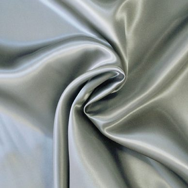 Viscose Satin Silver Grey - William Gee