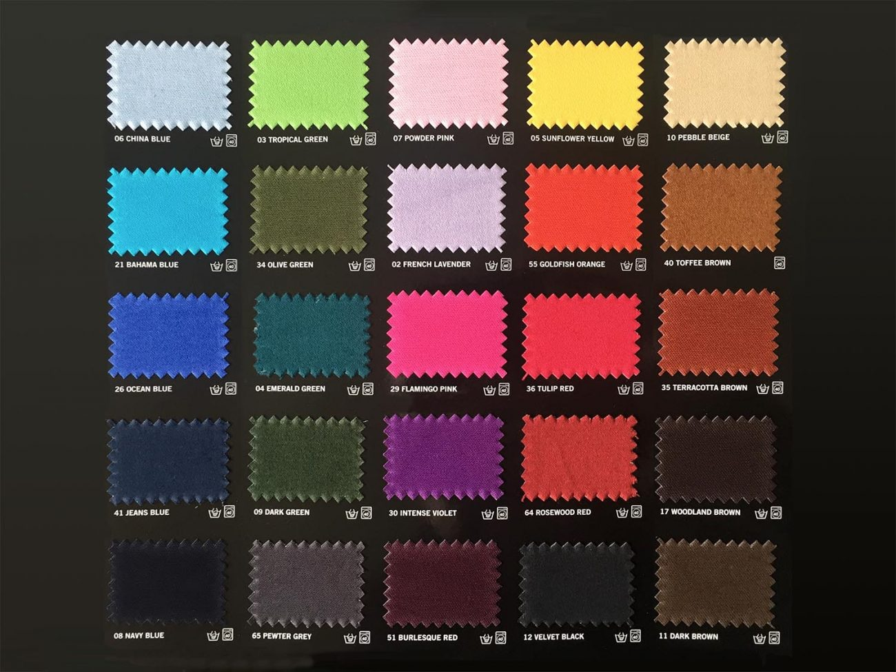 Dylon Dyes Shade Card