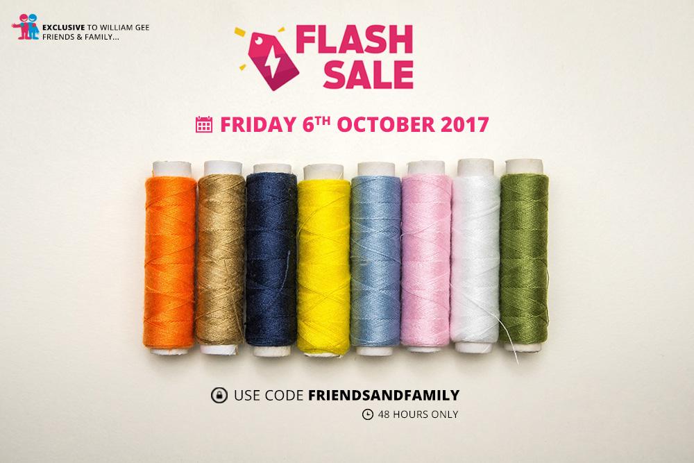 October 6 2017 William Gee Flash Sale