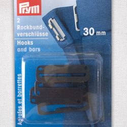 Prym Hooks and Bars 30mm in black - 267252 - William Gee