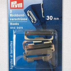 Prym Hooks and Bars 30mm in silver colour nickel plated - 267262 - William Gee