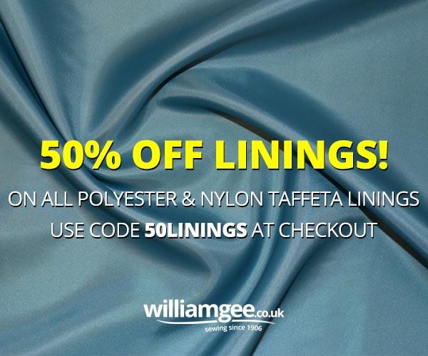 50% Off Linings Sale