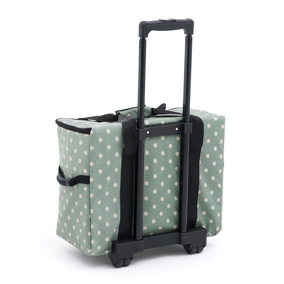 de5c2f223e Sewing Machine Trolley Bag  Matt PVC  Moss Polka Dot