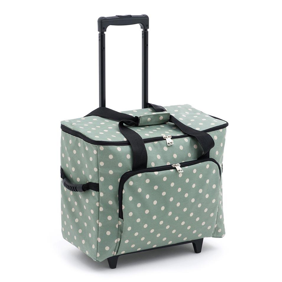 b288b9560d Sewing Machine Trolley Bag  Matt PVC  Moss Polka Dot. MRTB 264 - Sewing  Machine Storage - William Gee