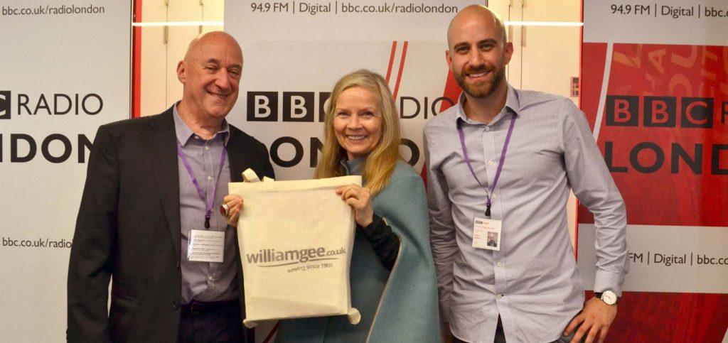 William Gee Haberdashery on the BBC London Radio Jo Good Show