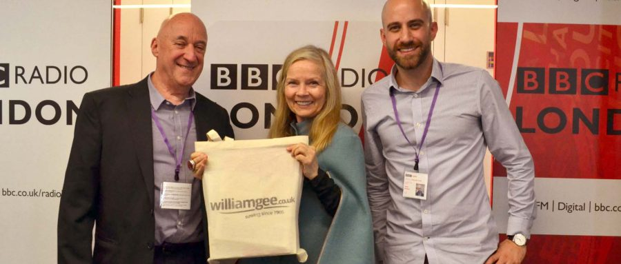 William Gee Haberdashery on the BBC London Radio Jo Good Show