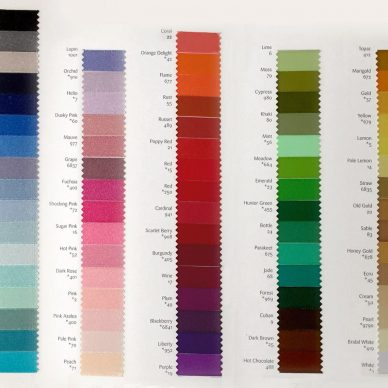 Double Faced Satin Ribbon Colour Shade Card - William Gee